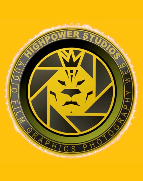 Highpower Studios Camera Lens Style Logo