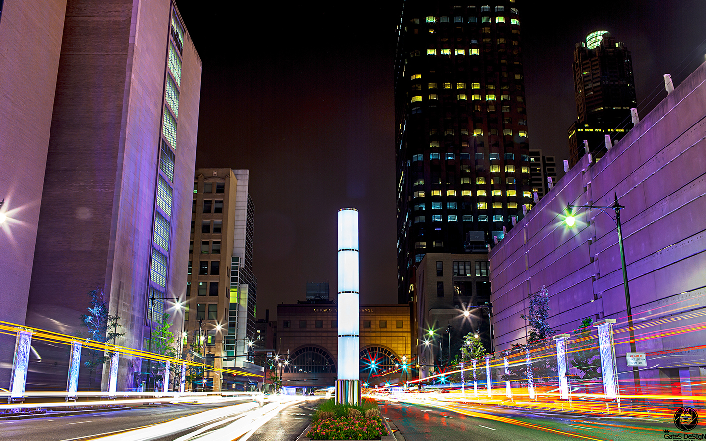 Phil Gates still of Chicago timelapse of Congress PKWY circa 2014