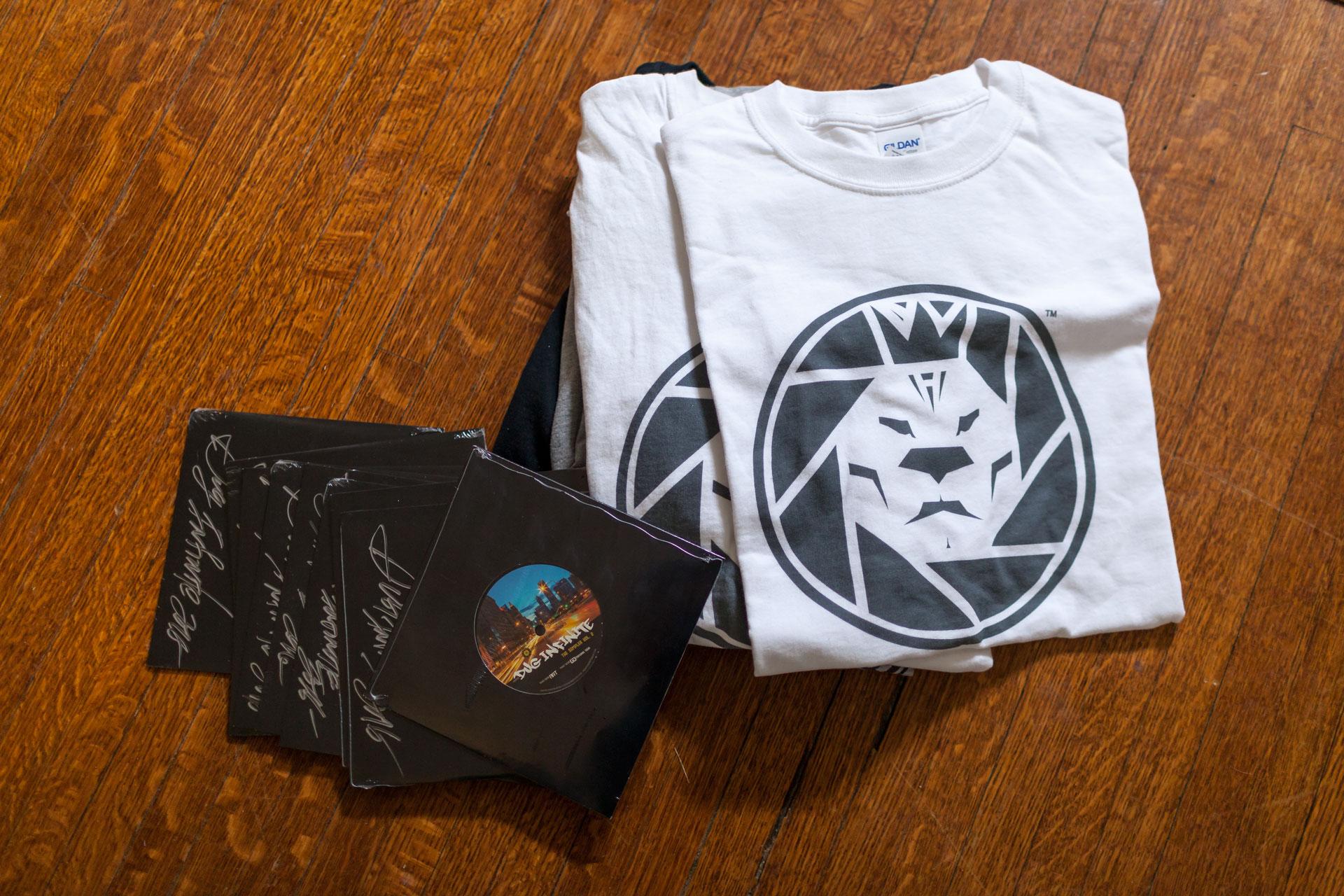 "Highpower Studios ""White Label"" Classic Logo T-shirts Test Prints"