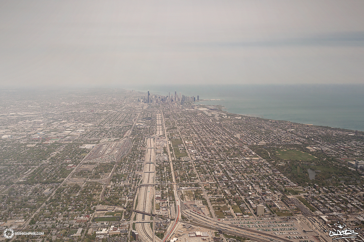Chicago arial image by Phil Gates.