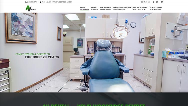 AV Dental Website